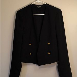 Black blazer- military detailing
